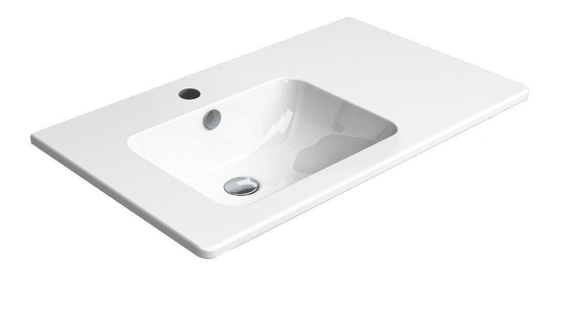 PURA umyvadlo s odkládací plochou vpravo, 80x50 cm, bílá ExtraGlaze
