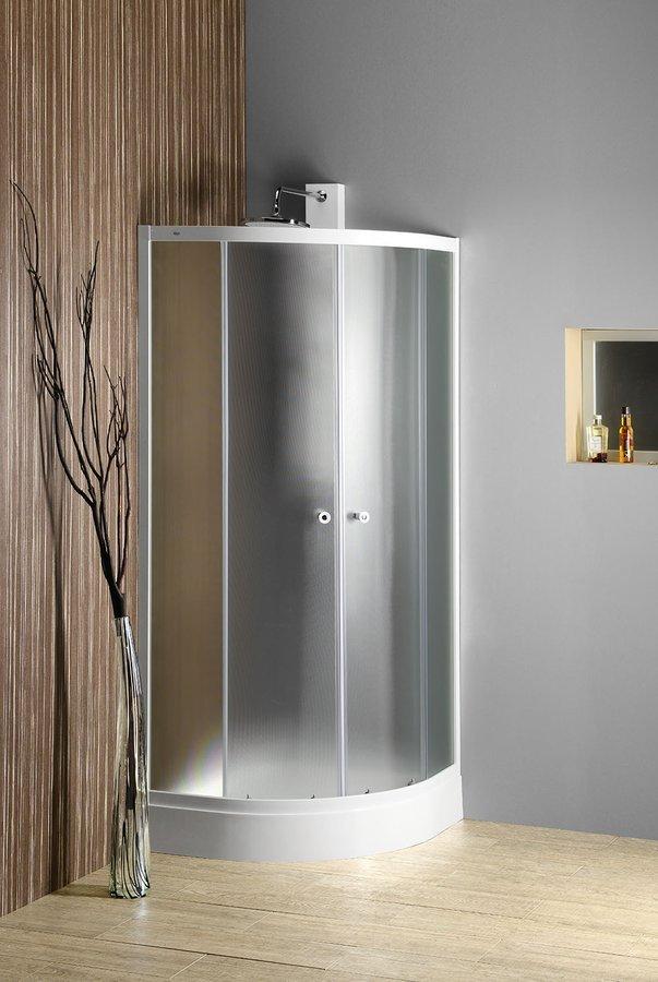 ARLEN čtvrtkruhová sprchová zástěna 900x900 mm, sklo BRICK
