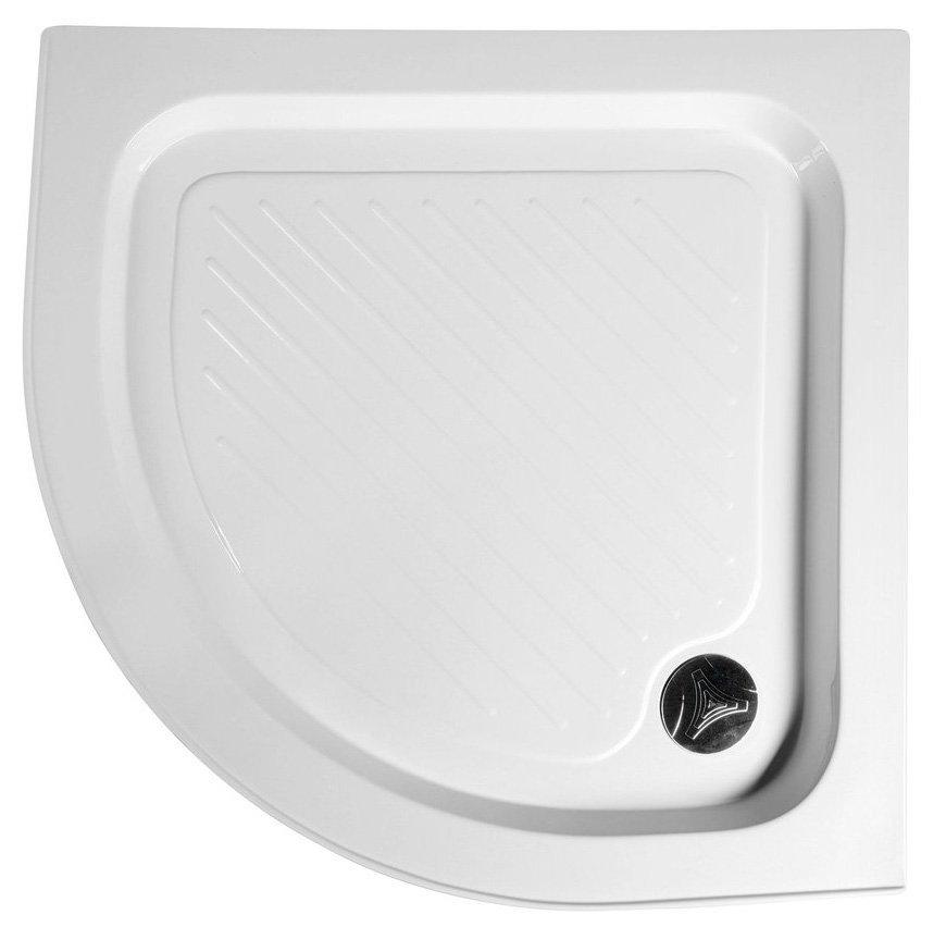 Sprchová samonosná vanička akrylátová, čtvrtkruh 80x80x15 cm
