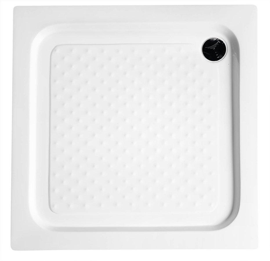Sprchová samonosná vanička akrylátová, čtverec 90x90x15 cm
