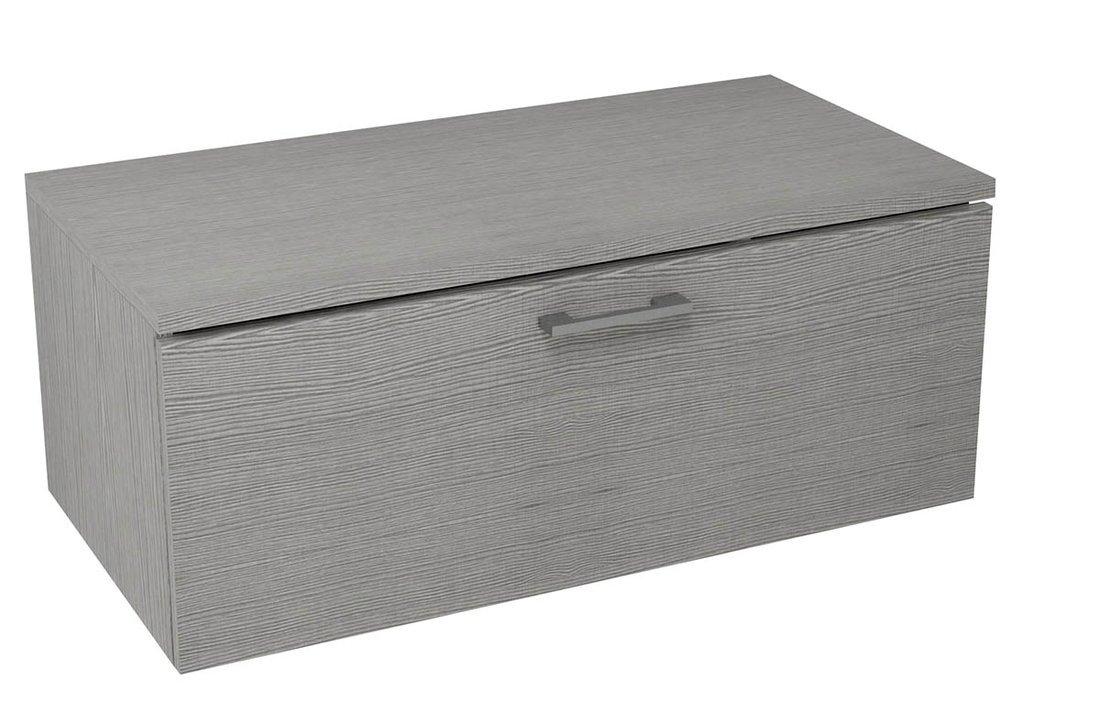 MAKALA skříňka s vrchní deskou 89,5x35x45,2 cm, dub stříbrný