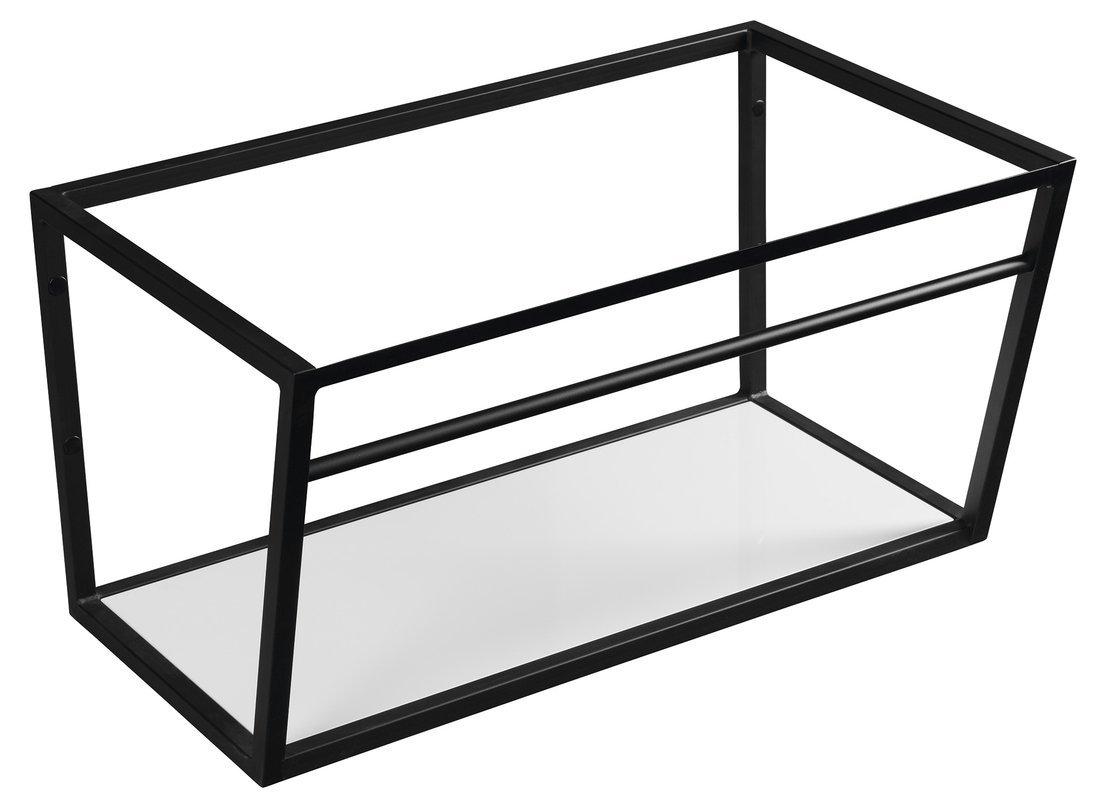 SKA konstrukce s policí 750x400x460mm, černá mat