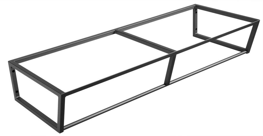 SKA konstrukce pod umyvadlo/desku 1200x200x460mm, černá mat