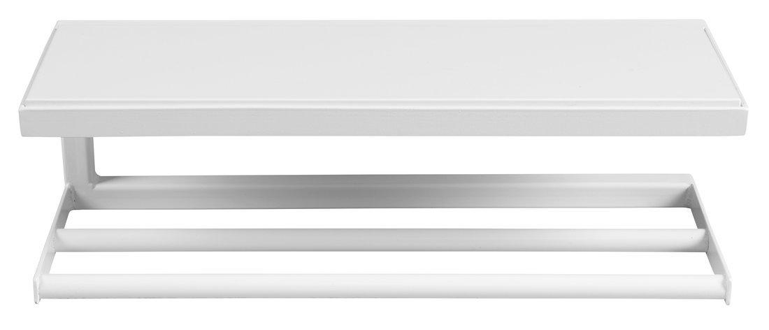 SKA nástěnná police 450x140x160mm, bílá mat s bílou MDF deskou