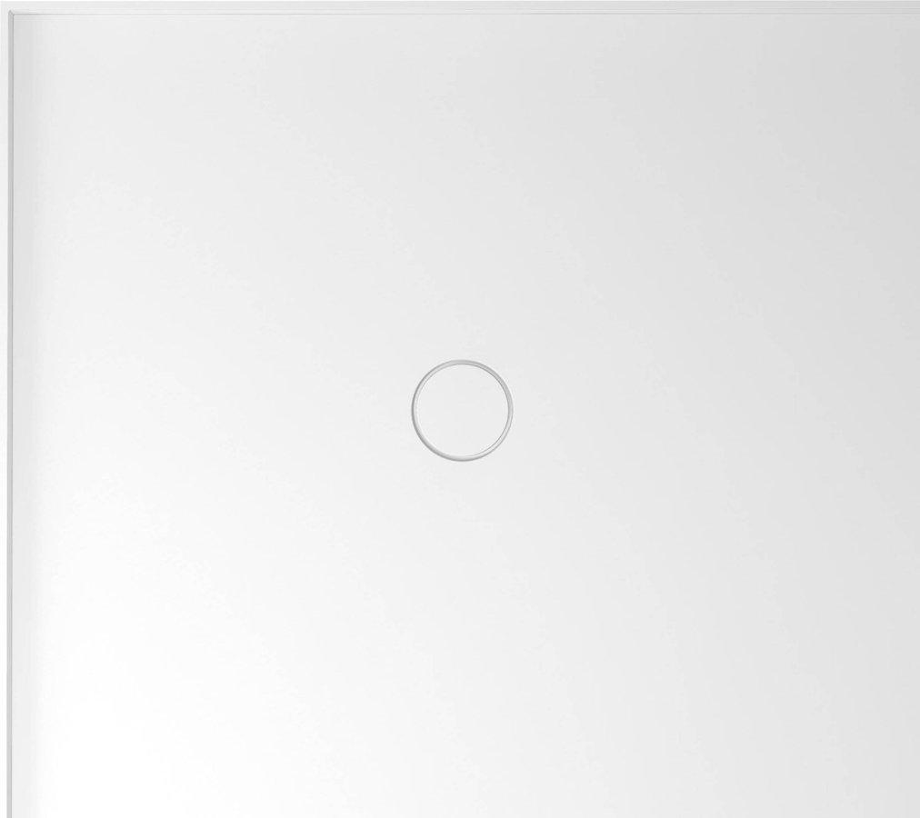 MIRAI sprchová vanička z litého mramoru, obdélník 90x80x1,8cm, levá, bílá