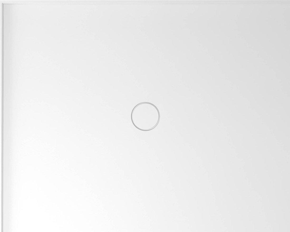 MIRAI sprchová vanička z litého mramoru, obdélník 100x80x1,8cm, levá, bílá