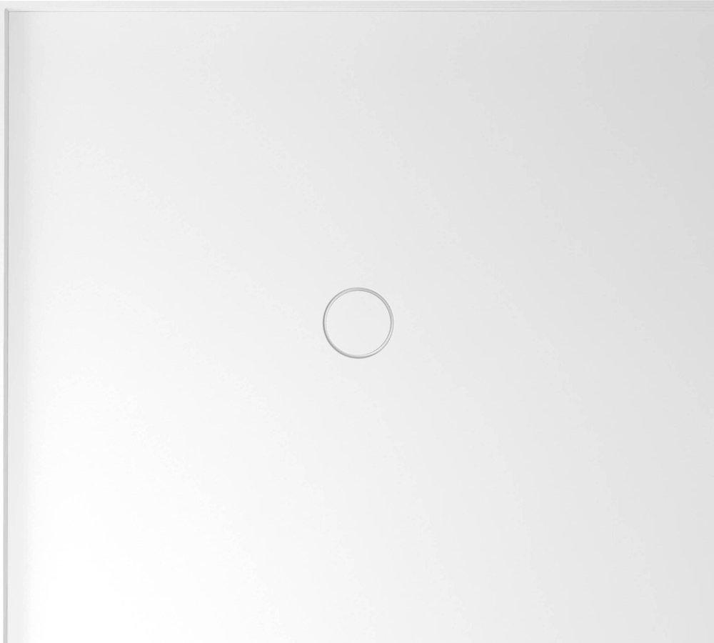 MIRAI sprchová vanička z litého mramoru, obdélník 100x90x1,8cm, levá, bílá