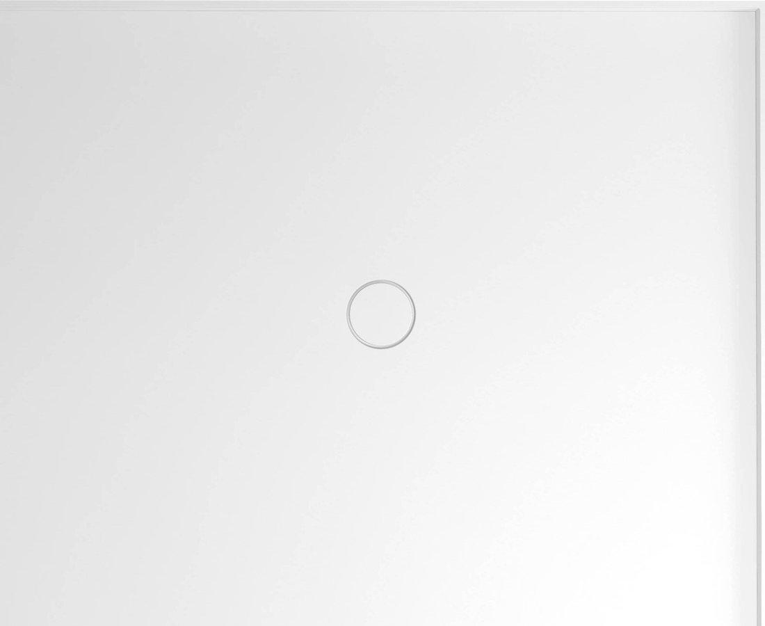 MIRAI sprchová vanička z litého mramoru, obdélník 110x90x1,8cm, pravá, bílá