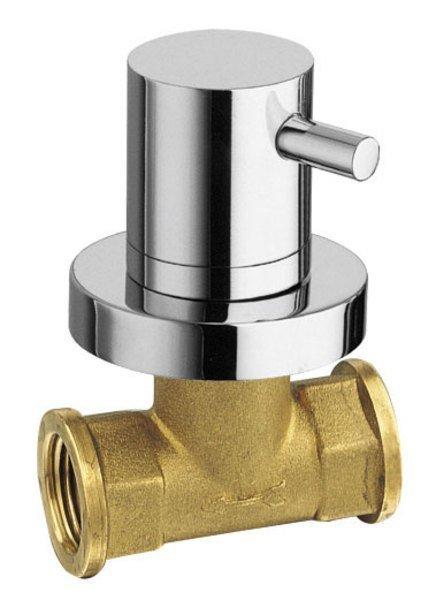 AIRTECH podomítkový ventil, studená, chrom