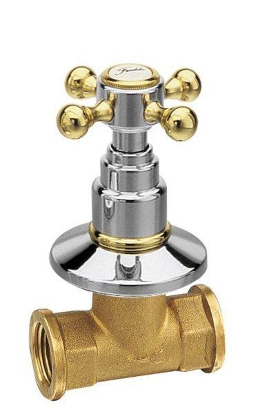 ANTEA podomítkový ventil, studená, chrom/zlato