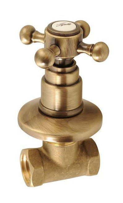 ANTEA podomítkový ventil, teplá, bronz