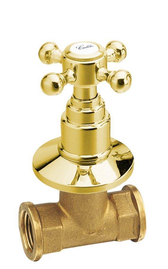 ANTEA podomítkový ventil, teplá, zlato