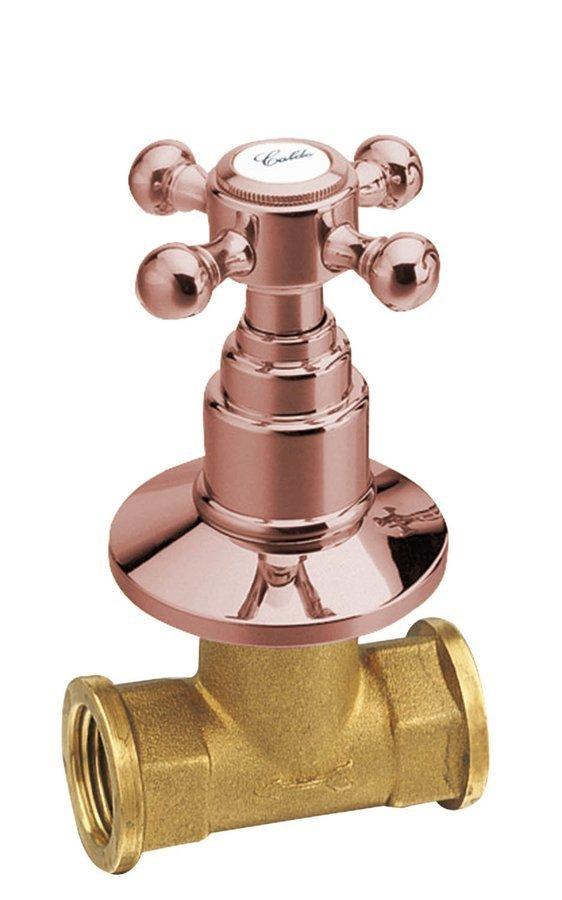 ANTEA podomítkový ventil, teplá, růžové zlato