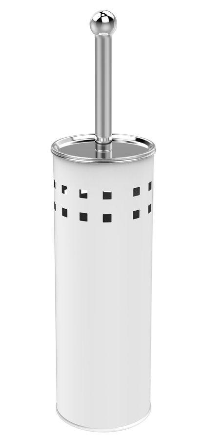 SIMPLE LINE WC štětka válcová s otvory, bílá