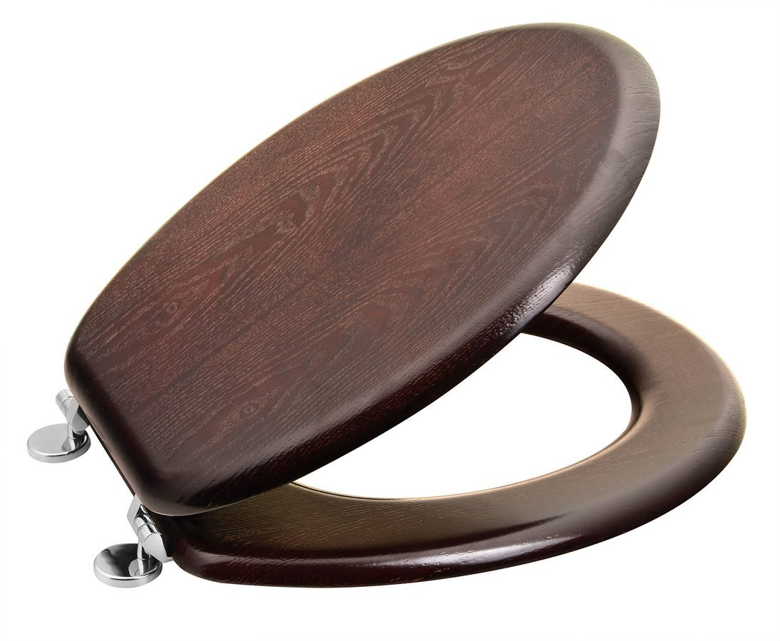 AQUALINE WC sedátko, MDF, ořech