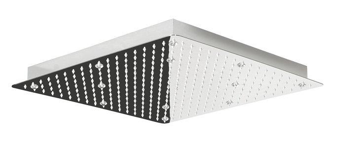 SLIM hlavová sprcha s RGB LEDosvětlením, čtverec 500x500mm, nerez