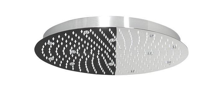 SLIM hlavová sprcha s RGB LED osvětlením, kruh 300mm, nerez