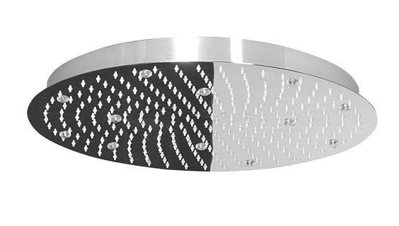 SLIM hlavová sprcha s RGB LED osvětlením, kruh 500mm, nerez