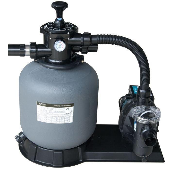 Kompletní písková filtrace s čerpadlem, max.15,6m3/h., 6-ti cestný ventil