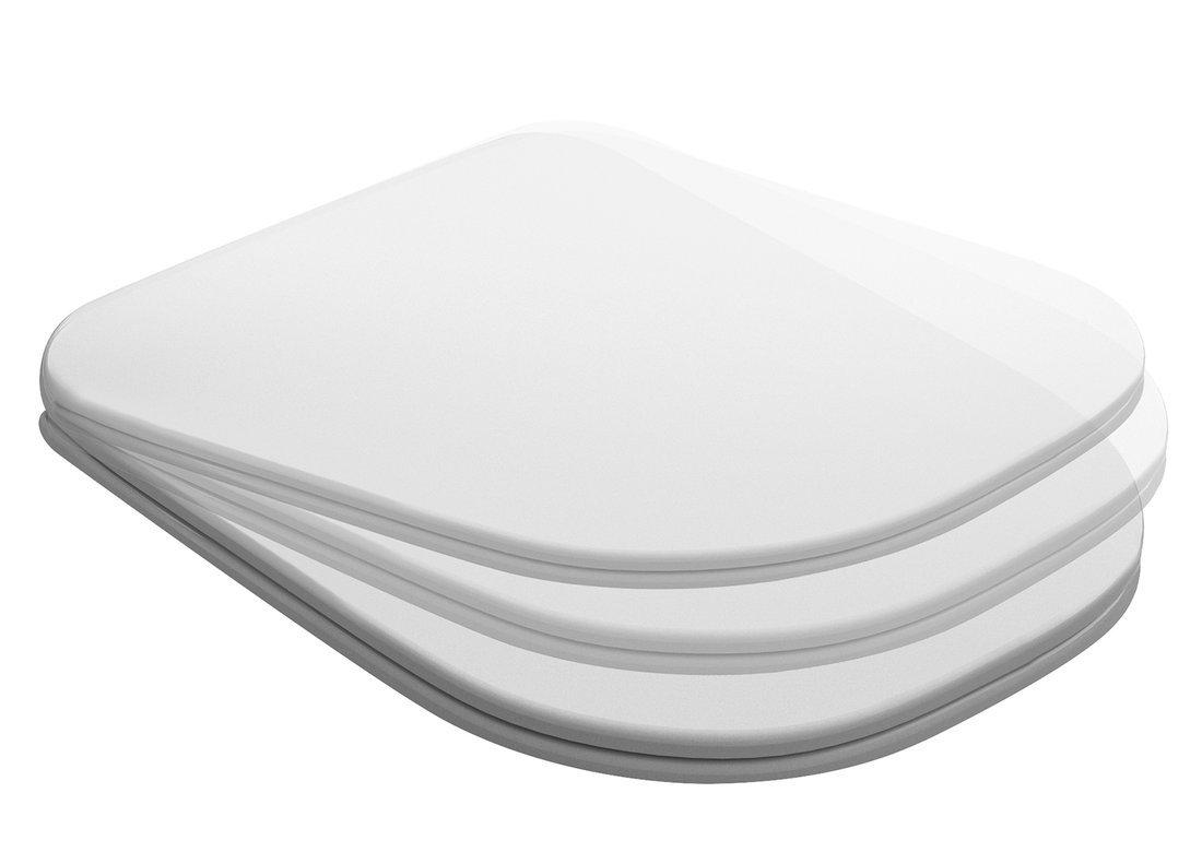 TRIBECA WC sedátko SLIM Soft Close, duroplast, bílá