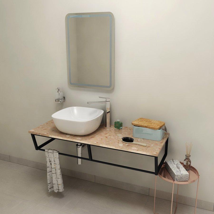 SKA deska 120x2x46 cm, technický mramor, Rosa del Garda