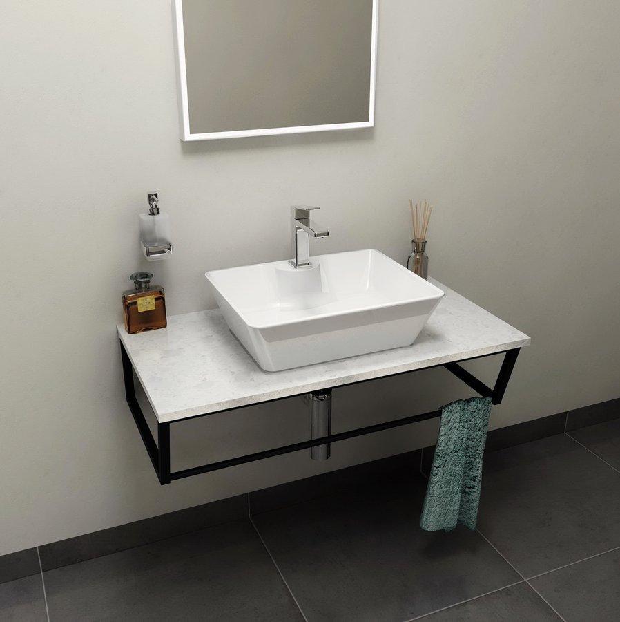 SKA deska 90x2x46 cm, technický mramor, Calacatta