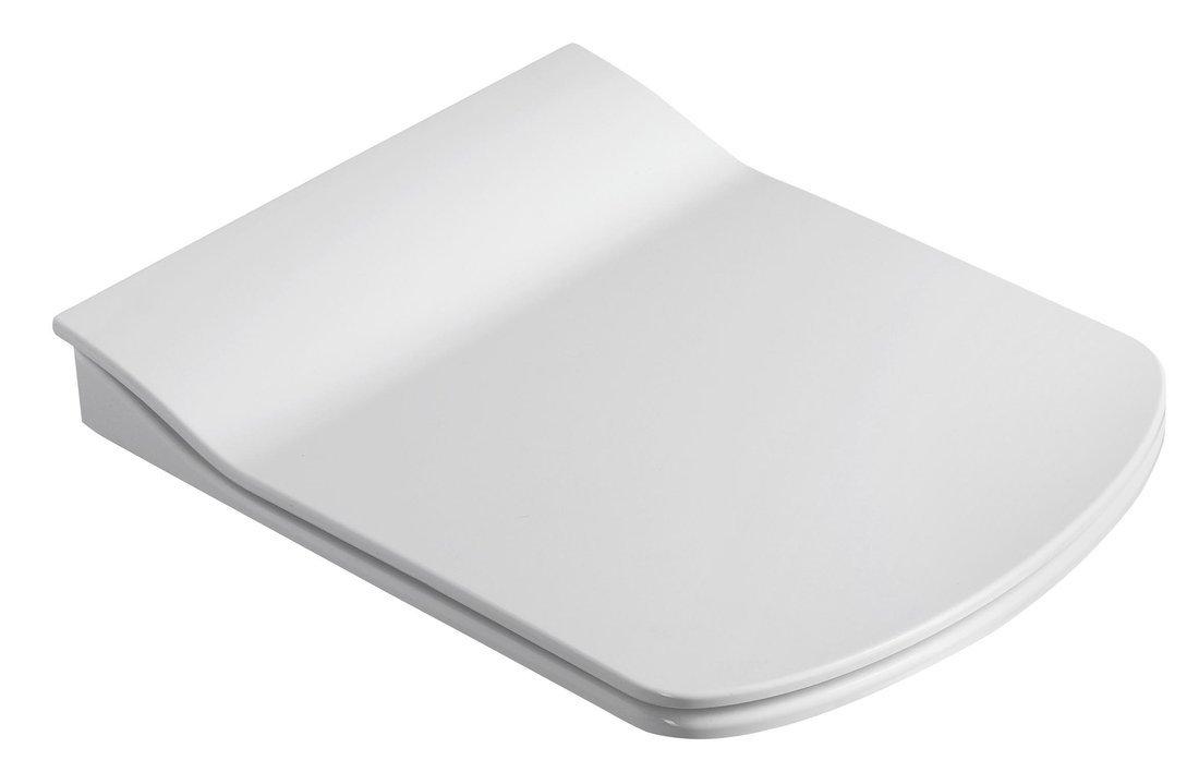 GLANC WC sedátko SLIM Soft Close, duroplast, bílá