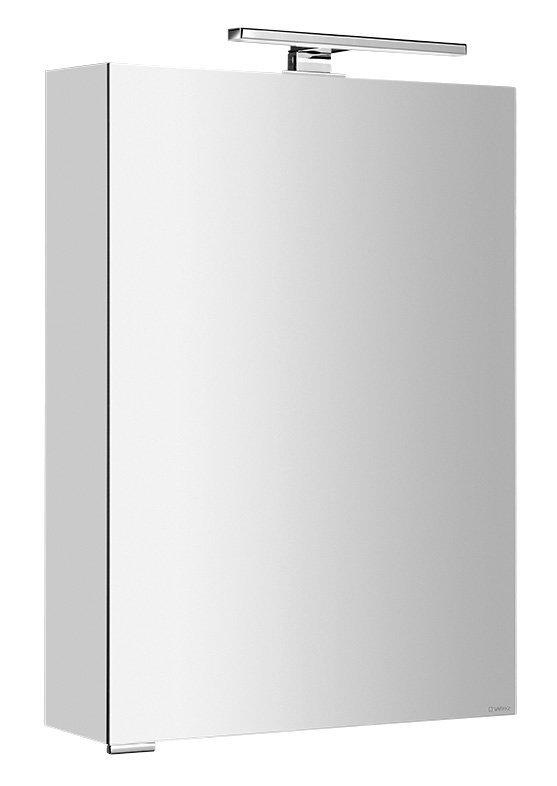 MIRRÓ galerka s LED osvětlením, 50x70x15cm, levá/pravá, stříbrná