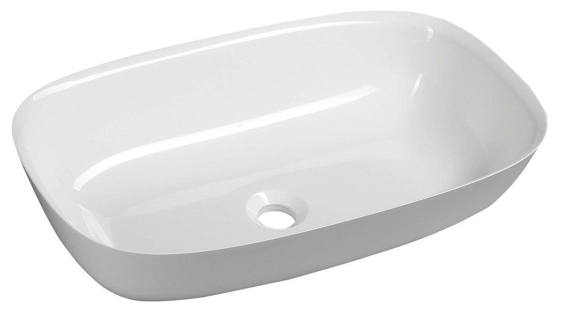 REIKO umyvadlo 60x36cm, litý mramor, bílá