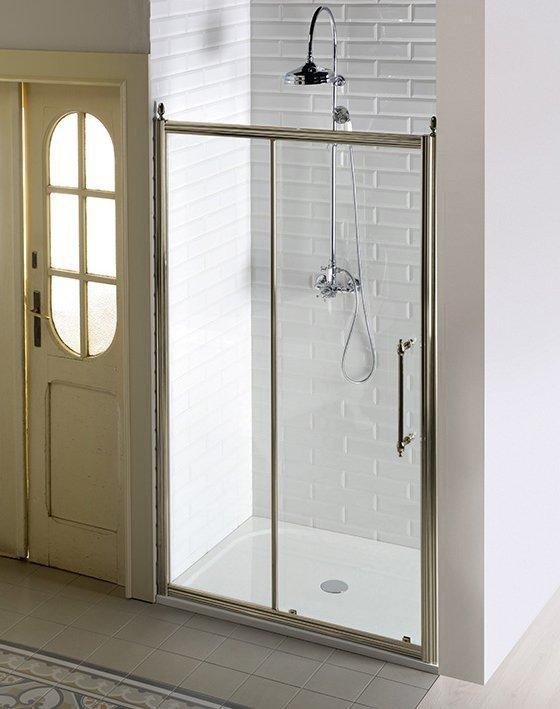 ANTIQUE sprchové dveře posuvné,1400mm, ČIRÉ sklo, bronz