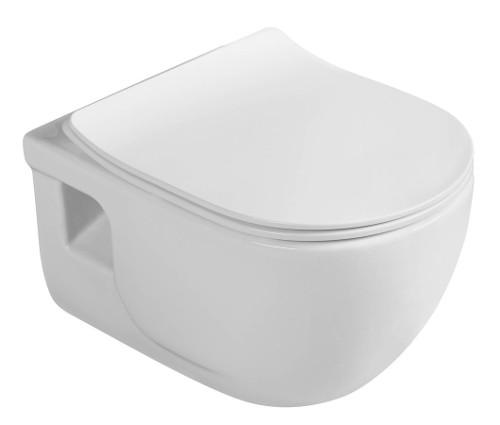 IDEA závesná WC misa, 35,5x40x52 cm (ŠxVxH). Rozteč pre uchytenie je 18 cm
