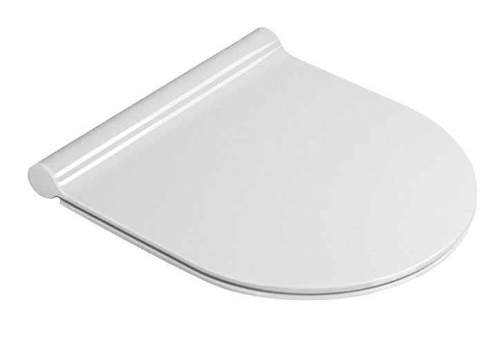 KUBE X, NORM sedátko, SLIM, Soft Close, duroplast, bílá