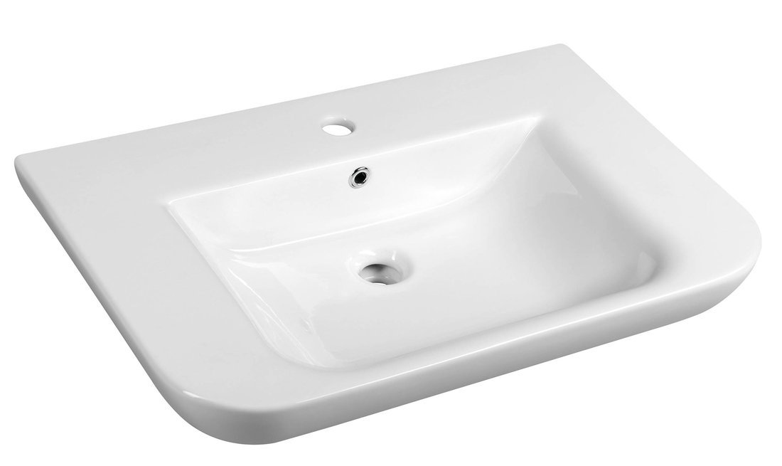 DORI keramické umyvadlo s odkládací plochou 70x48 cm, bílá