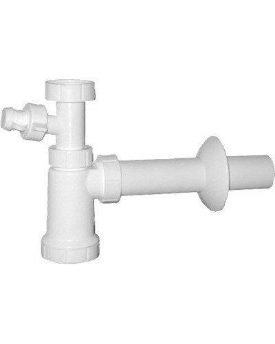 Umyvadlový sifon s odbočkou 1'1/4 odpad 40 mm, bílá
