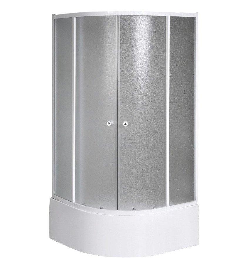 ARLEN čtvrtkruhová sprchová zástěna 800x800x1500 mm, sklo BRICK