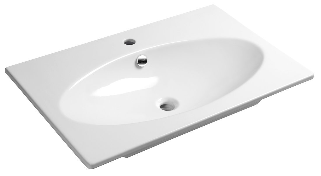 SISTEMA X keramické umyvadlo 80x51cm, bílá