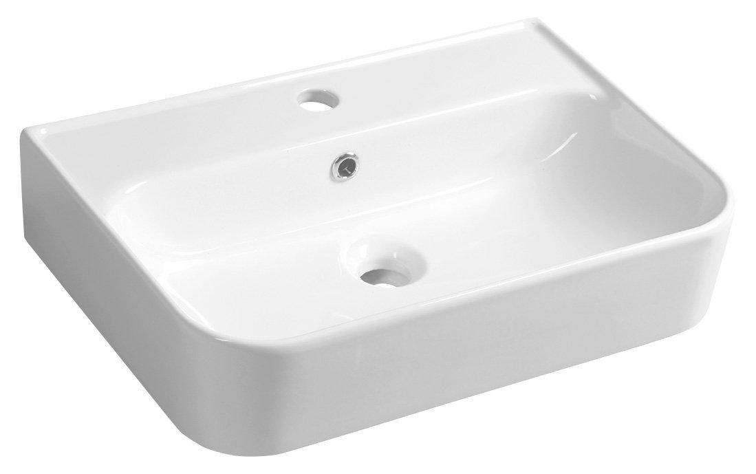 SISTEMA U keramické umyvadlo 55x38 cm, bílá
