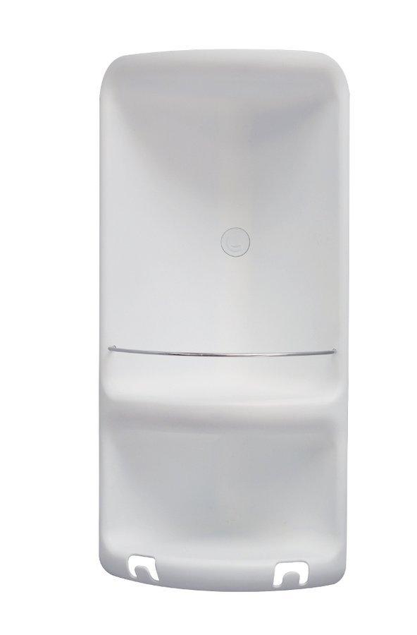 CAESAR dvoupatrová rohová polička do sprchy 226x473x160 mm, ABS plast, bílá
