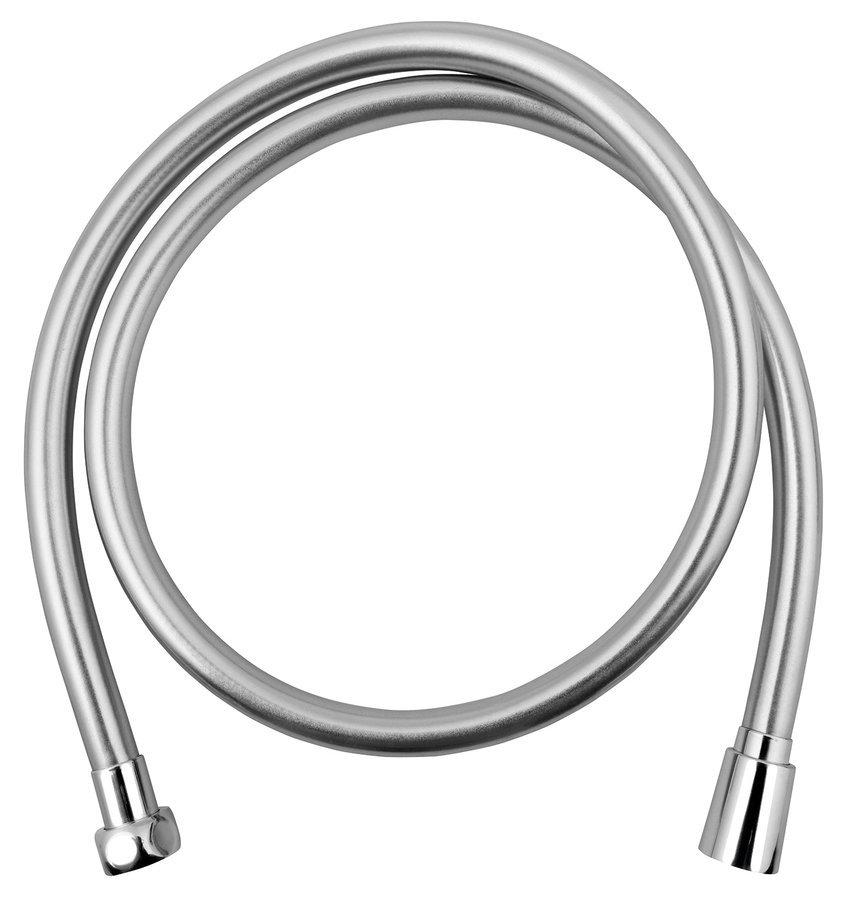SOFTFLEX hladká sprchová plastová hadice, 120cm, metalická stříbrná/chrom
