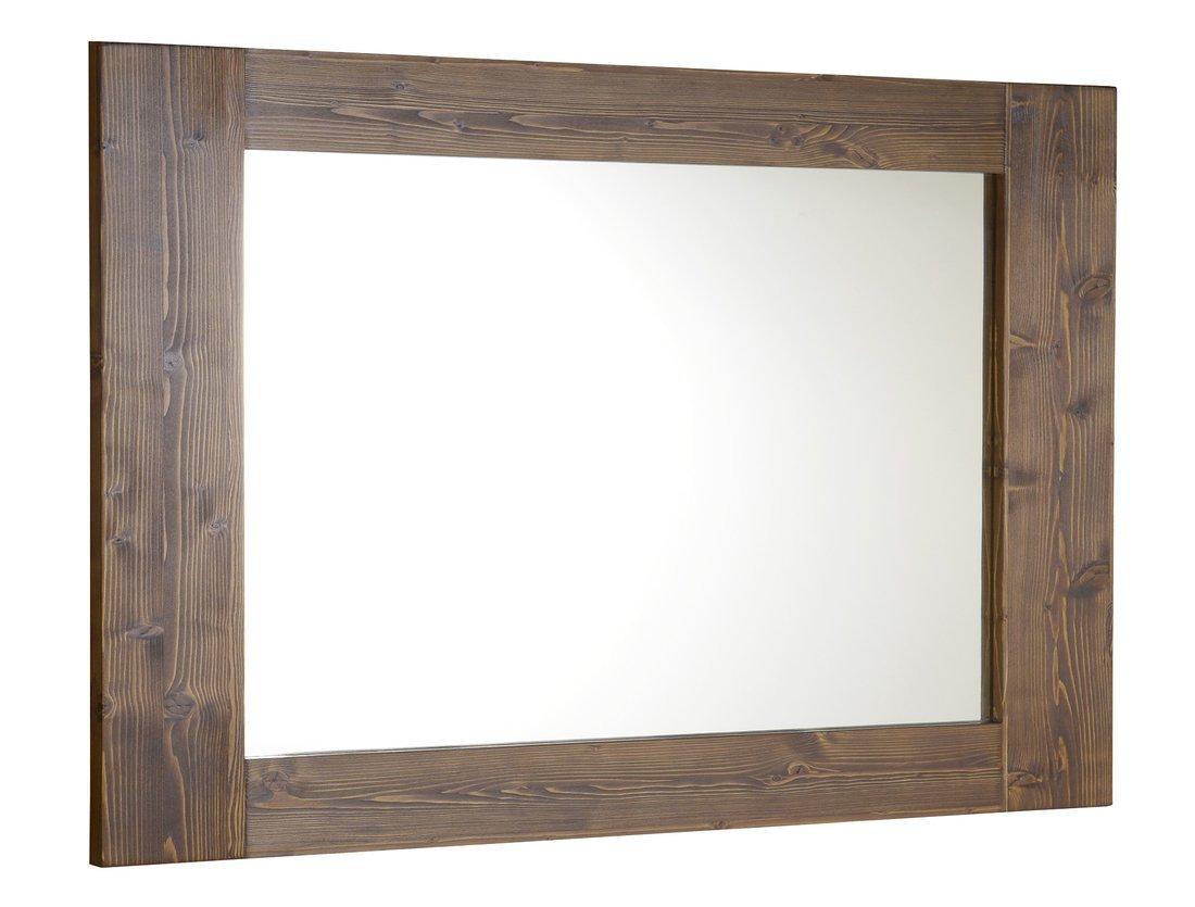 BRAND zrcadlo 1000x800x20mm, mořený smrk