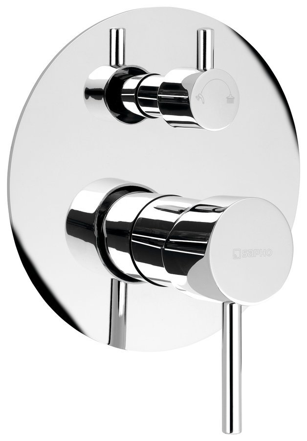 RHAPSODY podomítková sprchová baterie, 2 výstupy, otočný přepínač, chrom