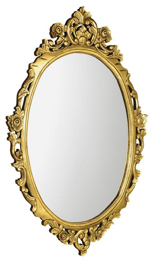 DESNA oválné zrcadlo v rámu, 80x100cm, zlatá