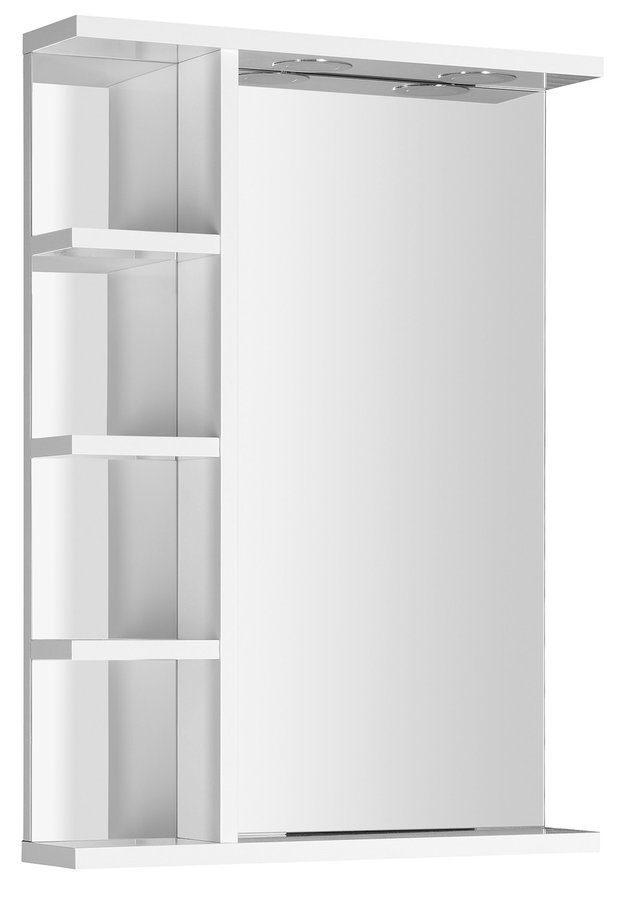 KORIN zrcadlo s LED osvětlením a poličkami 50x70x12cm