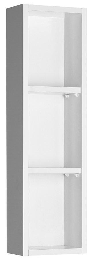 ZOJA policová skříňka k zrcadlu Korin, 20x70x12cm, bílá