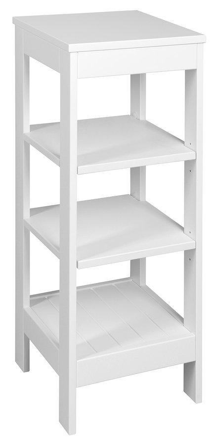 ETIDE policový regál 36x86x36 cm, bílá mat