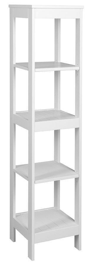 ETIDE policový regál vysoký 36x152x36 cm, bílá mat