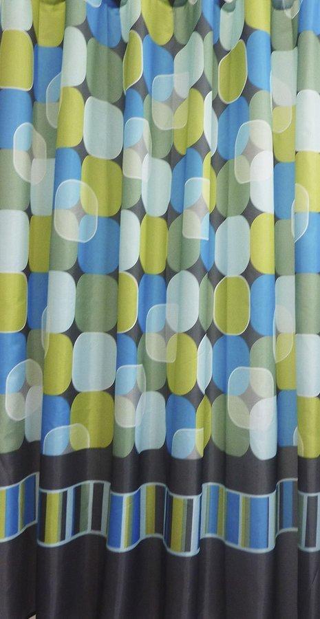 Závěs 180x200cm,100% polyester, kruh - mix barev
