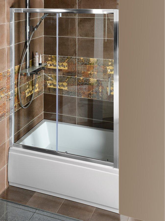 DEEP sprchové dveře posuvné 1400x1500mm, čiré sklo