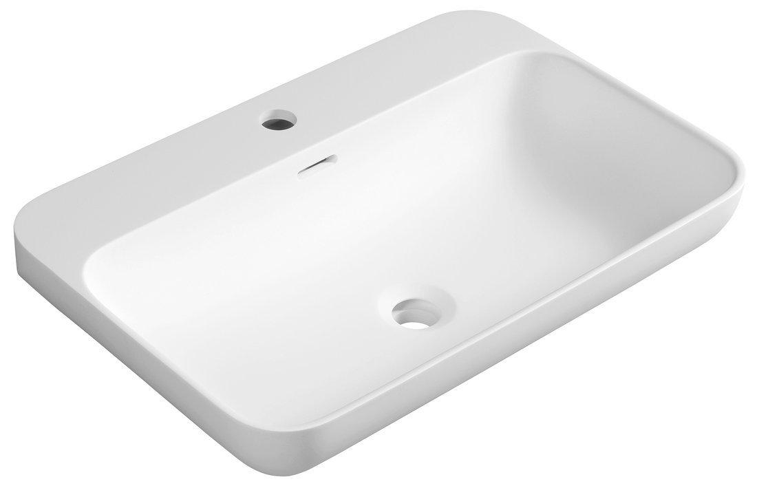 NIAGARA umyvadlo, 60x14x40cm, bílá mat