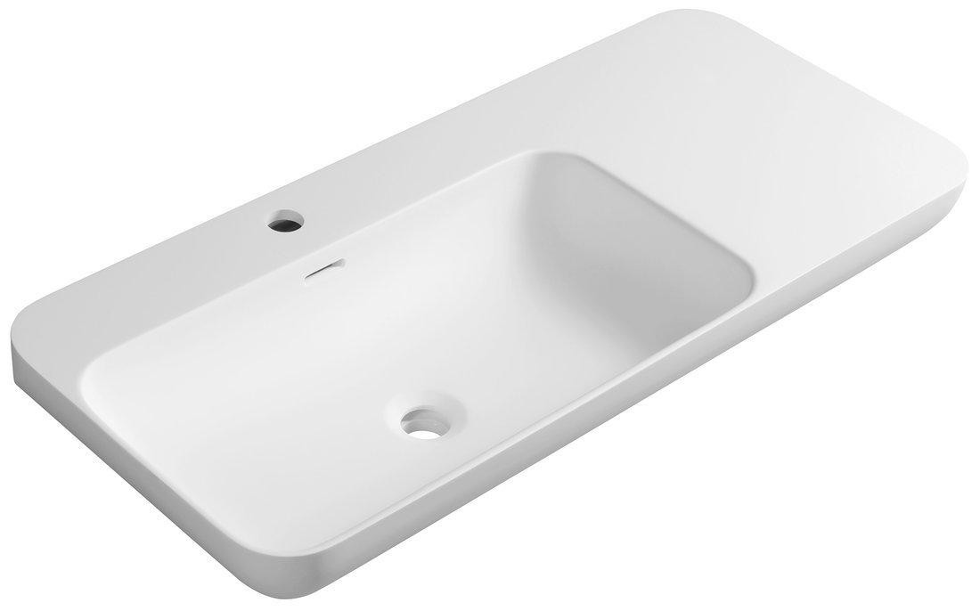 NIAGARA umyvadlo s odkládací plochou vpravo, 90x14x40cm, bílá mat